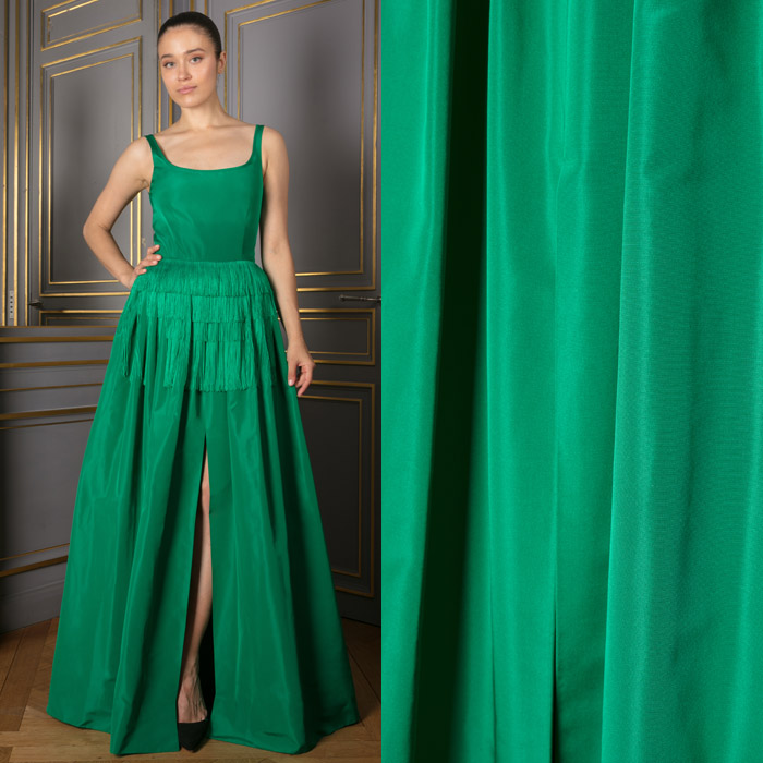 Long green dress