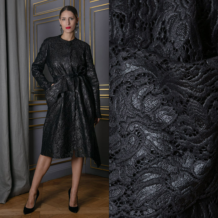 Black lace coat